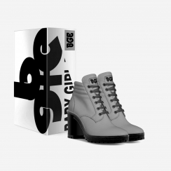 gallery/grey boot heel-shoes-with_box