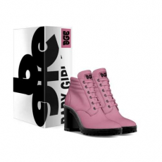 gallery/pink boot heel-shoes-with_box