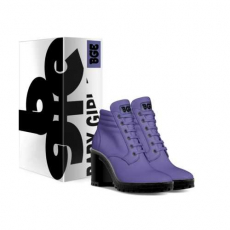 gallery/violet boot heel-shoes-with_box