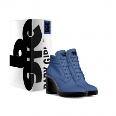 gallery/denim boot heel-shoes-with_box