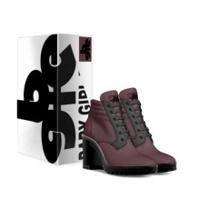 gallery/wine boot heel-shoes-with_box