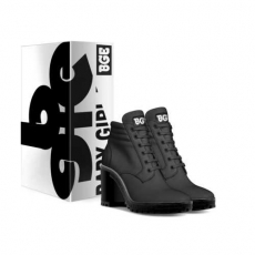 gallery/black heel boot-shoes-with_box